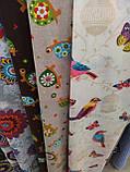 Ткань для детской Черепашки, фон серобежевый, фото 2
