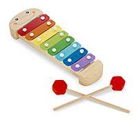 Детская музыкальная игрушка - ксилофон Гусеница (Wooden Caterpillar Xylophone) ТМ Melissa & Doug MD8964