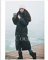 Утеплённое пальто из плащовки, синтепон 200 см Цвета: черный, белый фото реал вш №713