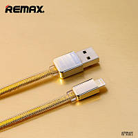 Кабель Зарядка Для IPhone, USB Кабель Remax Gold King Kong Lightning, 1м