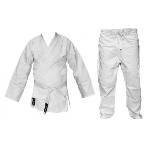 Кимоно каратэ белое MATSA МА-0016-2 (х-б, р.2 (150см), пл.240г на м2)