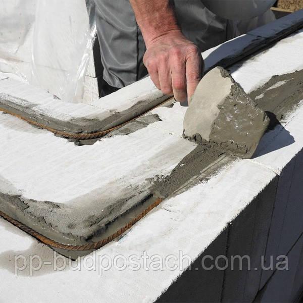 Укладка арматуры в газобетон