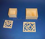 Скринька №2 різьблена заготівля для декору, фото 3