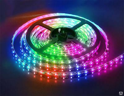 Светодиодная лента SMD 2835/60 12V RGB IP20 Код.52517, фото 2