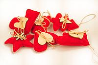Новогодние мягкие игрушки в наборе