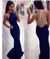 Эксклюзивное платье, дорогое украшение- камни со стразами. Ткань: креп, спинка- телесный фатин, вш№906