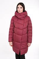 Женская зимняя куртка прямого силуэта 203 бордо