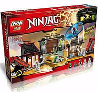 """Конструктор Lepin 06033 Ninja (реплика Lego Ninjago 70590) """"Боевая площадка для аэроджитцу"""" 723 дет, фото 1"""