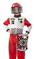 """Детский карнавальный костюм """"Гонщик"""" от 3-6 лет (Race Car Driver F1) ТМ Melissa & Doug MD18562"""