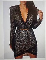 """Платье на """" запах """" , основа кружево, подкладка- плотный трикотаж, отделка- плотное шитье,вш №904"""