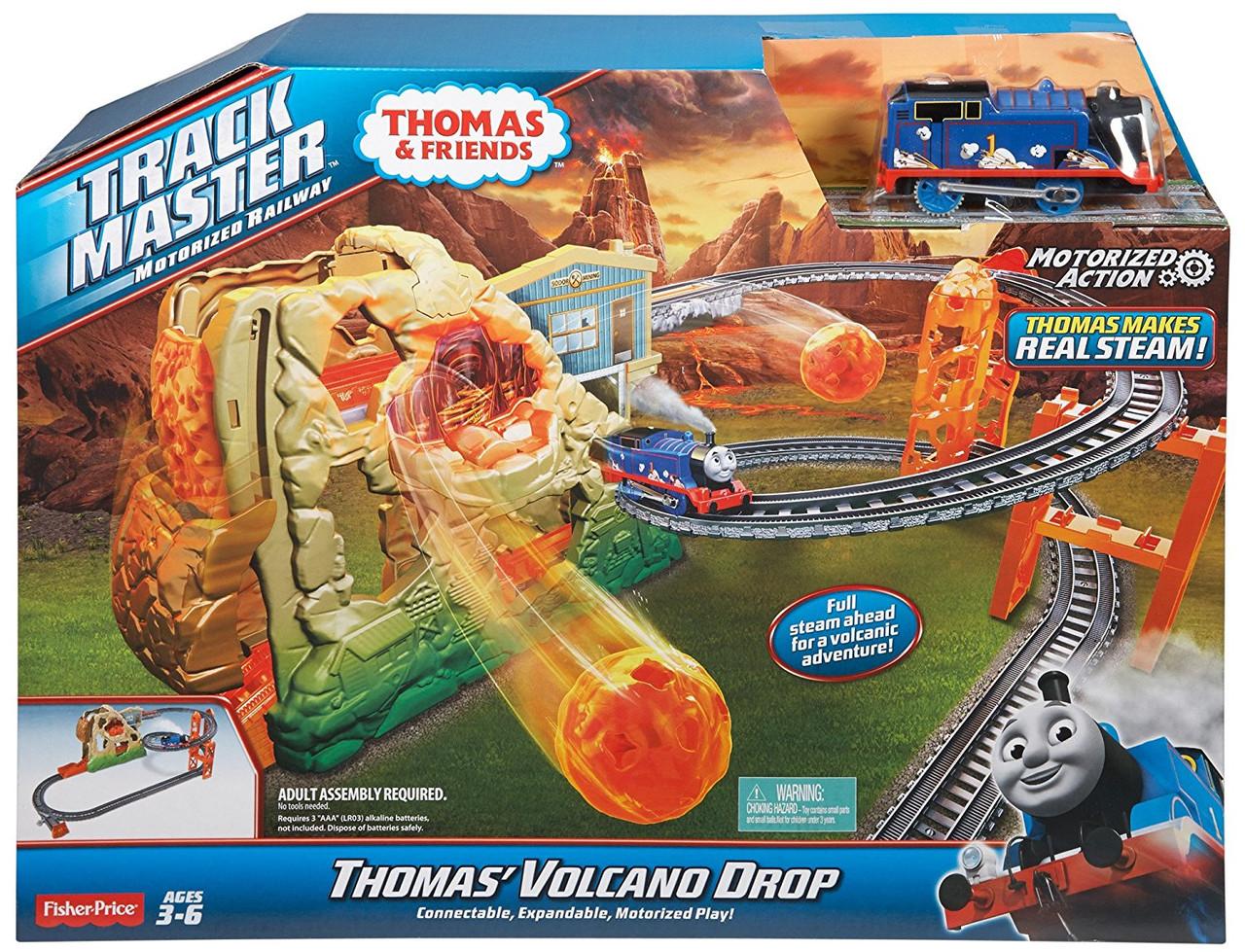 Fisher-Price  железная дорога Томас и его друзья Путешествие через вулкан серия TrackMaster