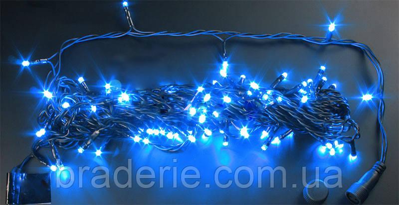 Гирлянда светодиодная уличная String 10 метров 100 Led синяя, фото 2