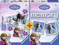"""Детский пазл-Memory Дисней 3 в 1 """"Холодное сердце"""" ТМ Ravensburger 22311"""