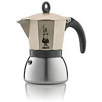 Кофеварка гейзерная Bialetti Moka Induction Cветлое золото, на 6 чашек
