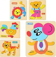 Деревянные игрушки пазлы вкладыши MD 0674