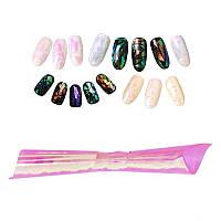 Фольга для ногтей, битое стекло № 05, ширина 5 см, цвет розово-персиковый хамелеон