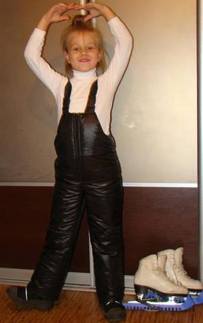 Зимний детский полукомбинезон черный, 104-128, фото 2