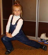 Зимний детский полукомбинезон синий, р.98-110, фото 2