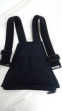 Штаны зимние полукомбинезон, черные, р.116-140, фото 3
