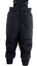 Штаны зимние полукомбинезон, черные, р.116-140, фото 2