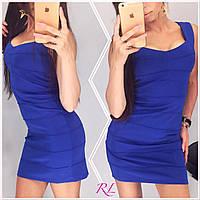 Женское короткое платье ткань дайвинг