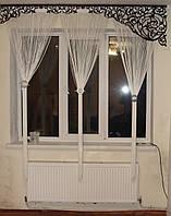 Ажурный жесткий ламбрекен черный, 2м, фото 1