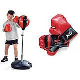Детский боксерский набор Profi boxing MS 0333, пара перчаток, высота груши 90-130см, спортивные наборы, фото 2