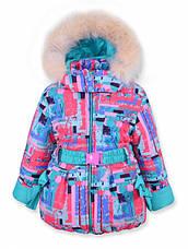 Детский зимний комбинезон на девочку ИЛАРИЯ бирюза, р.92, фото 2