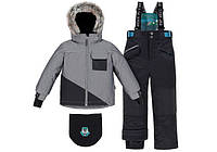 Зимний костюм для мальчика 4-14 лет р. 104-152 (куртка, полукомбинезон, манишка) ТМ Deux par Deux M 815В-999
