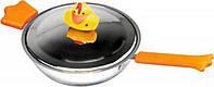 Сковорода Sheriff Duck с крышкой, диаметром 18см