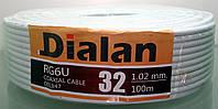 Кабель коаксиальный Dialan RG6U-32U  пометражно