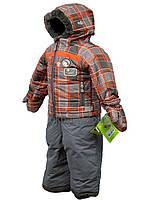 Зимний термокостюм для мальчика от 1 до 3,5 лет р. 80-104 (куртка, полукомбинезон, рукавицы) ТМ PerlimPinpin VH234C