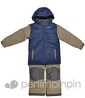 Зимний термокостюм для мальчика от 4 до 12 лет (куртка, полукомбинезон) р. 104-152 ТМ PerlimPinpin VH256A