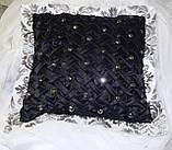 Подушка  ручная робота, черные, фото 3