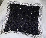 Подушка  ручная робота, черные, фото 5