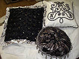 Подушка  ручная робота, черные, фото 7