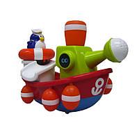 """Игрушка для ванны """"Пингвинчик-моряк на корабле"""" для детей от 1 года ТМ Water Fun 23204"""