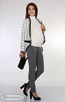 Классические брюки для беременных Lera р. 44-50 ТМ Юла Мама Серый 01.25.012