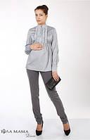 Классические узкие брюки для беременных Lea р. 44-50 ТМ Юла Мама Серый N14-1.15.2