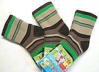 Теплые цветные носки в полоску мальчиковые