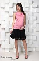 Кружевная юбка для беременных Hilary р. 44-48 ТМ Юла Мама черный S15-3.15.1