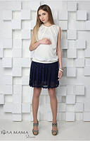 Кружевная юбка для беременных Hilary р. 44-50 ТМ Юла Мама черный S15-3.15.2