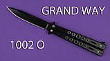 Нож бабочка балисонг 1002 O, карманный нож, нож складной, антибликовое покрытие, фото 3