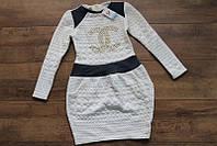 Детское платье Шанель круги Размер 7 - 10 лет Разные цвета, фото 1