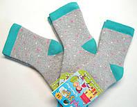 Теплые носки в цветной горошек серого цвета детские
