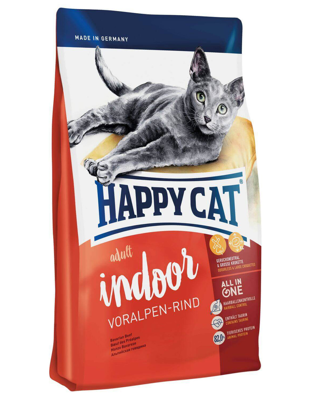 HAPPY CAT Fit & Well Indoor Adult 1,4 kg