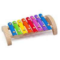 """Музыкальная развивающая игрушка Ксилофон 8 тонов для детей от 1 года ТМ """"Игрушки из дерева"""" Д379"""