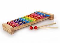 """Музыкальная развивающая игрушка Металлофон 12 тонов для детей от 1 года ТМ """"Игрушки из дерева"""" Д030"""