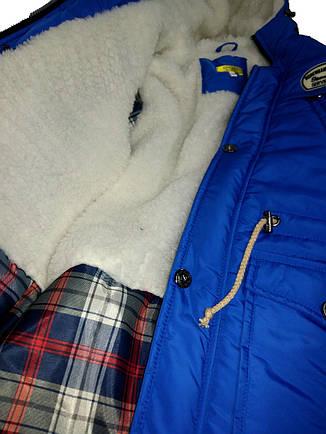 Детская зимняя куртка парка на мальчика подростка элеткрик, р.46, фото 2