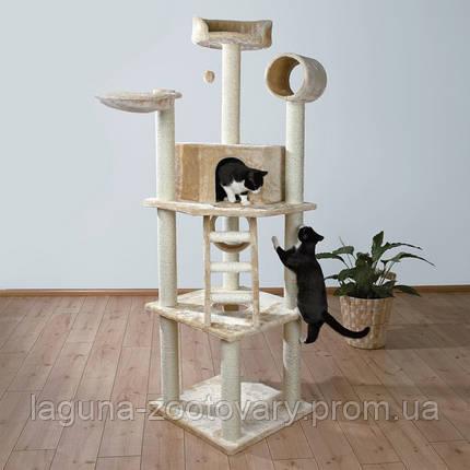 """Ігровий комплекс з когтеточку """"Монтілья"""" для кішок і кошенят, 197див, бежевий., фото 2"""